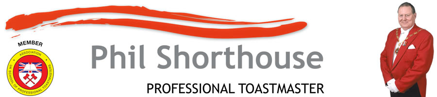 Phil Shorthouse Professional Toastmaster in Kent